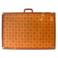MCM Large Cognac Travel Trunk Luggage