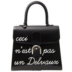 "Brand New Delvaux  L'Humour Brillant MM ""Ceci N'est Pas Un Delvaux"""