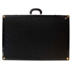 MCM Black Monogram Travel Luggage Case