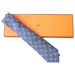 55e14d8a3ce2 Hermes Paris Pelican Bird Silk Print Necktie in Hermes Box Circa 1990