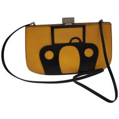 1989 Hermes New York Taxi Yellow Sac a Malice Clutch