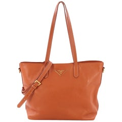 24f28e0a34f5 Prada Galleria Saffiano Peach Coral Ostrich Leather Tote Bag at 1stdibs
