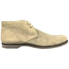 JOHN VARVATOS Size 12 Grey Dirty Wash Lace Up Desert Boots