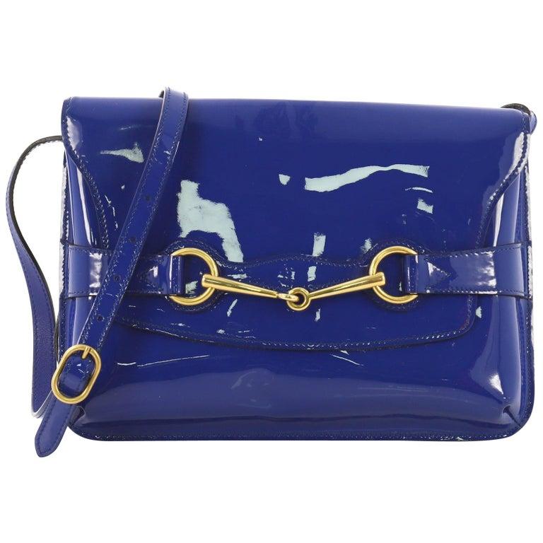 a43fc448c634f3 Gucci Bright Bit Shoulder Bag Patent For Sale at 1stdibs