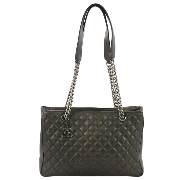 dd9c27f19881 Chanel Rock in Rome Shopping Tote Quilted Goatskin Large For Sale at ...