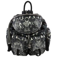 Chanel Astronaut Essentials Backpack Sequin Embellished Printed Nylon Large