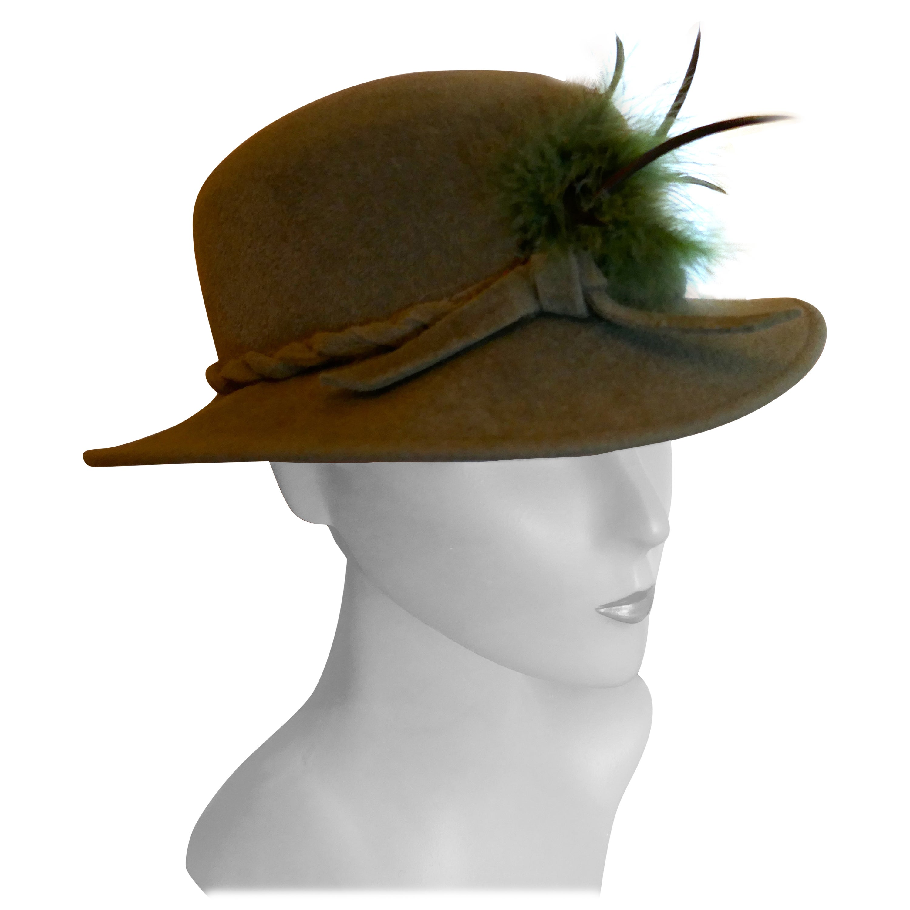 1960s Vintage Shooting Party Country Living Hat Designed by Connor
