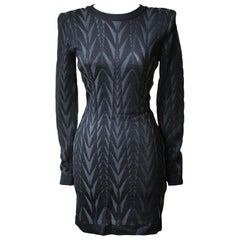 Balmain Chevron Knit Mini Dress