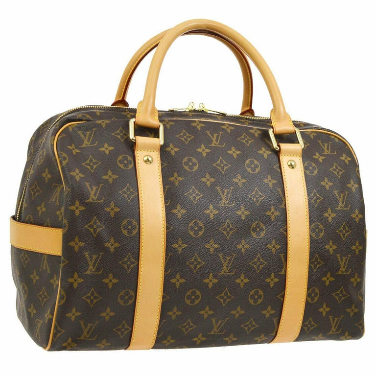 Louis Vuitton Monogram Men's Women's Small Travel Duffle Carryall Top  Handle Bag For Sale at 1stDibs