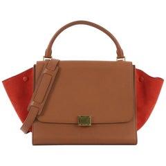 Celine Bicolor Trapeze Handbag Leather Medium
