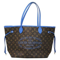 Louis Vuitton Neverfull MM Blue Voyage Tote Limited Edition in Dust Bag