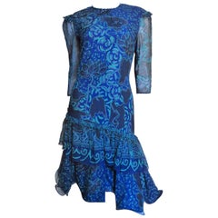 Zandra Rhodes Batique Print Silk Dress