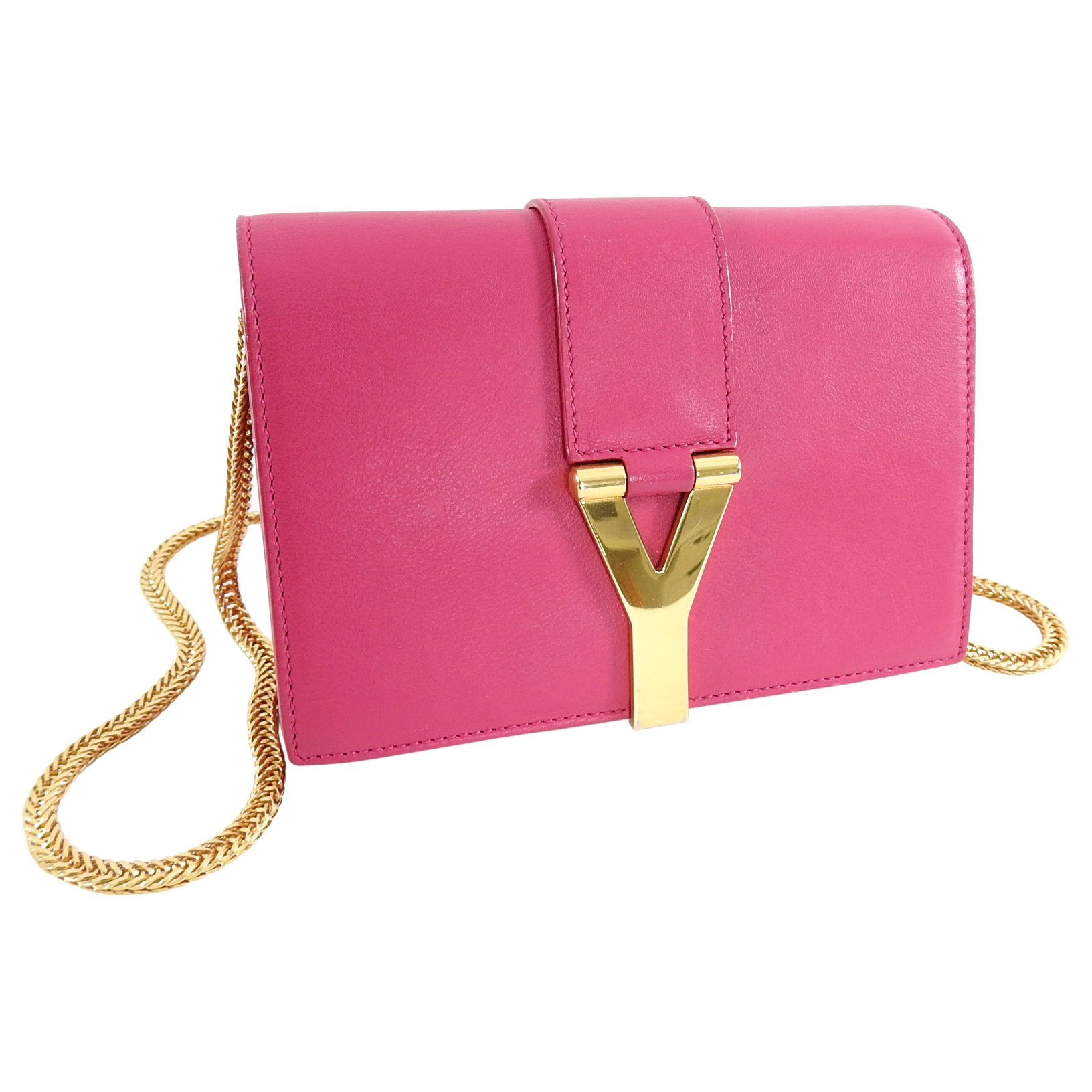 691895b8de2 YSL Saint Laurent Pink Mini Sac Y Ligne Crossbody Bag at 1stdibs