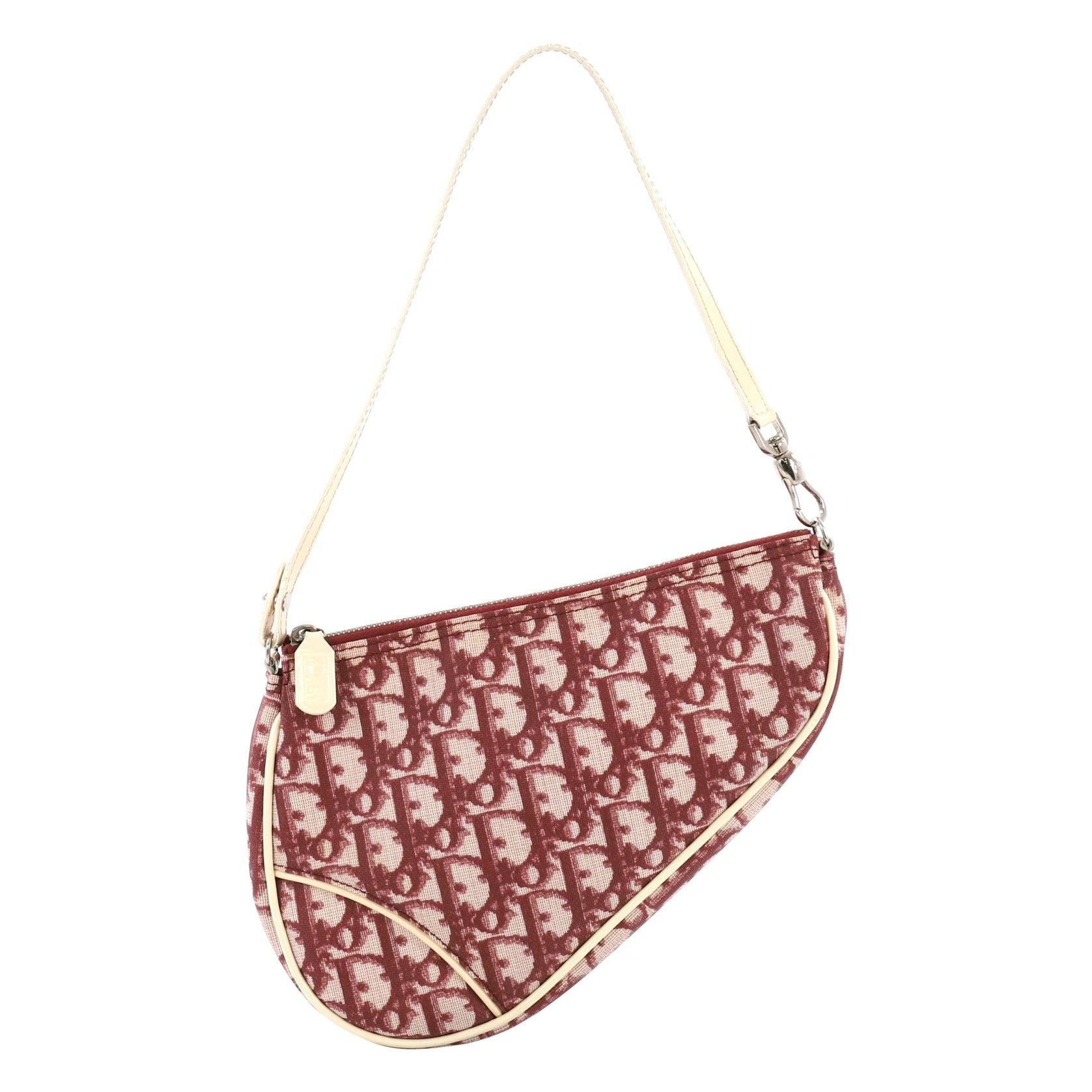 d9307ecca4e Christian Dior Vintage Saddle Bag Diorissimo Canvas Mini at 1stdibs