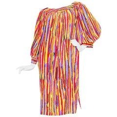 1980s Yves Saint Laurent Silk Tent Dress