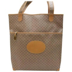 5b45dc5468d Gucci Micro Gg Monogram Shopper 870048 Brown Coated Canvas Tote