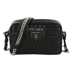 2e0df9fadb4d Prada Camera Bag Diagramme Quilted Leather Mini