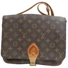 b546c6b4c3e1c3 Louis Vuitton Cartouchiere Monogram Gm 870197 Brown Coated Canvas Cross  Body Bag
