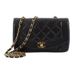 64e87148c38d Chanel Vintage Diana Flap Bag Quilted Lambskin Small