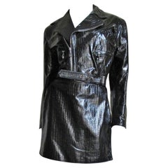 Gianni Versace Leather Motorcycle Jacket and Skirt FW 1994