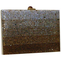 Judith Leiber Gradient Rhinestone Clutch/Handbag, Circa 1990's