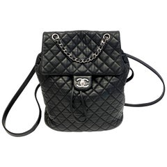 Chanel Black Backpack Quilted Lambskin Large,2016