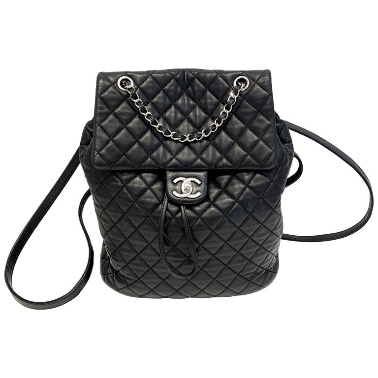 Chanel Black Backpack Quilted Lambskin Large,2016  For Sale