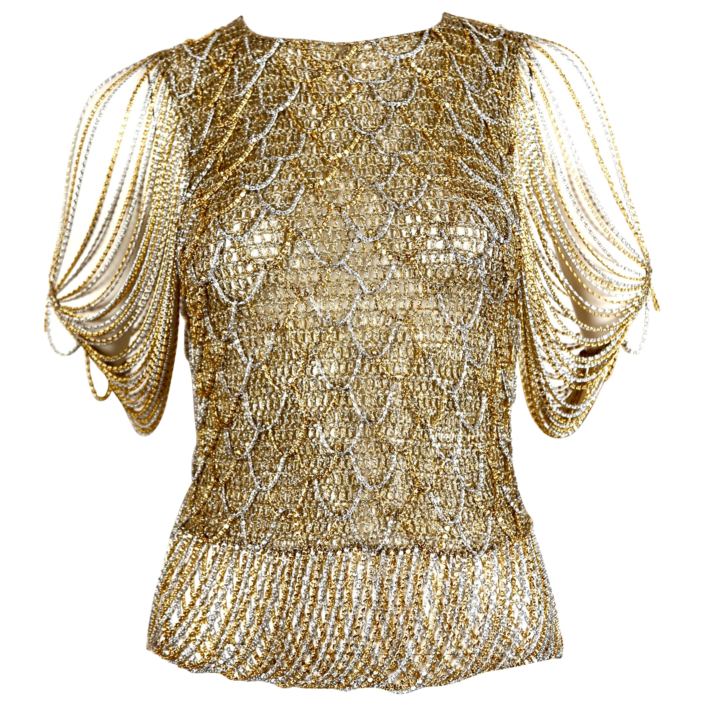 1973 LORIS AZZARO metal chainmail sweater