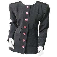 Yves Saint Laurent Haute Couture Silk Faille Jacket