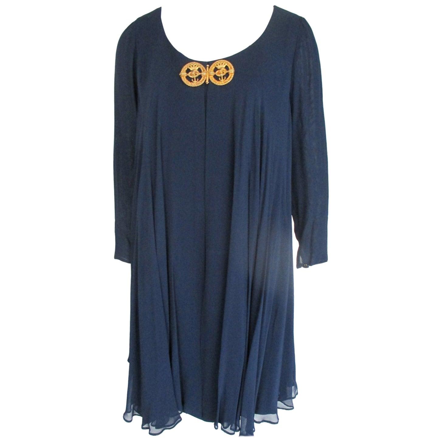 Blue Cocktail Dress Nina Ricci Paris