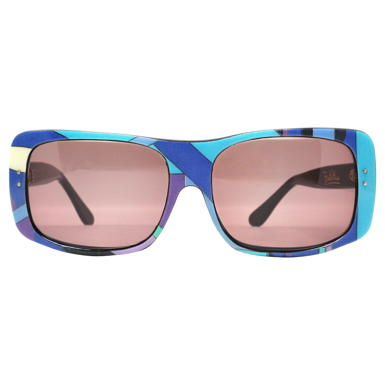 1960's EMILIO PUCCI oversized laminate printed plastic sunglasses