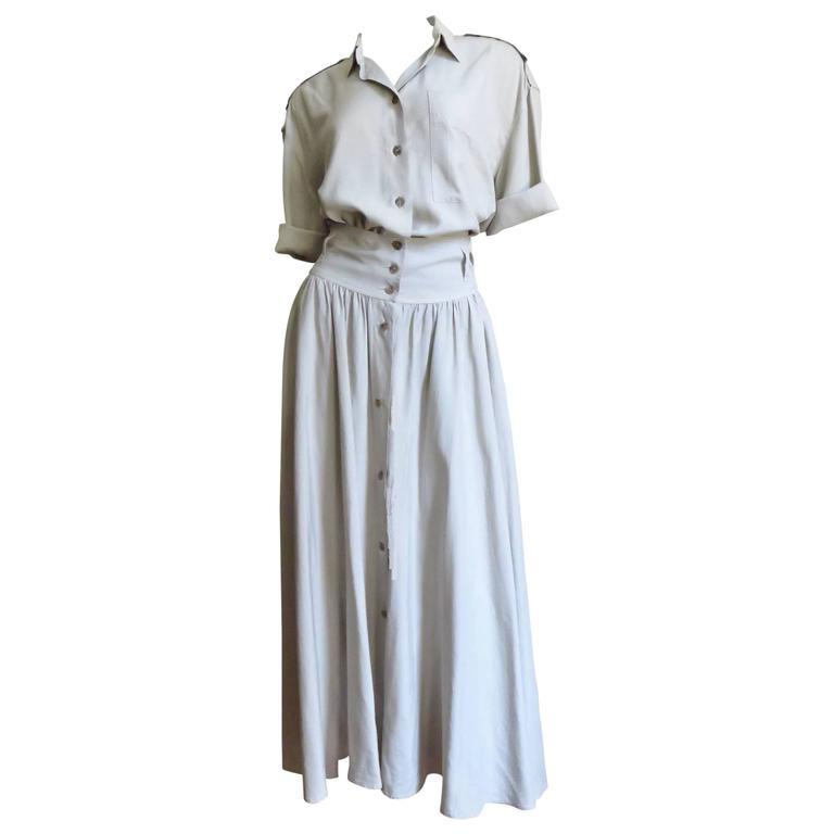 1990s  Byblos Silk Shorts Romper & Overskirt