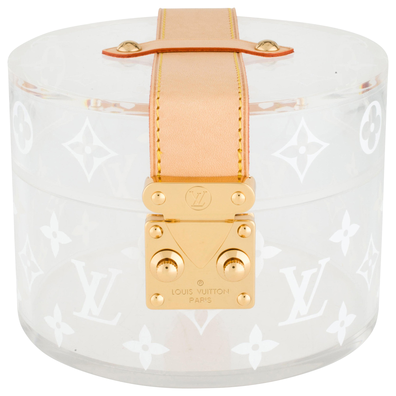 Louis Vuitton NEW Limited Ed. Monogram Plexi Leather Vanity Jewelry Trinket Box