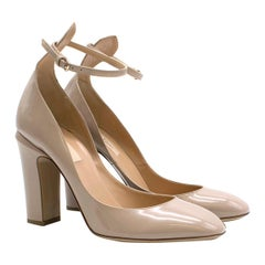 Valentino Nude Patent Leather Tango Pumps SIZE 39