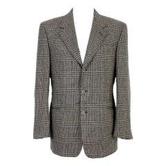 Fendi Brown Beige Wool Tweed Classic Jacket  1990s