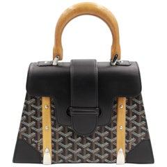 Goyard Saigon PM handbag in Black Canvas and Black Leather