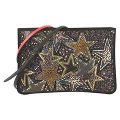 Christian Louboutin Loubiclutch Embellished Leather