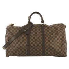 Louis Vuitton Keepall Bandouliere Bag Damier 55