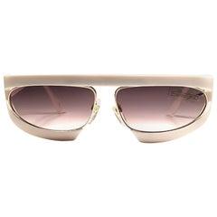 New Vintage Silhouette Mask M8020 White 1980's Sunglasses