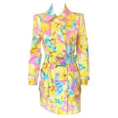 Versace S/S 2004 Runway Floral Print Jacket Coat