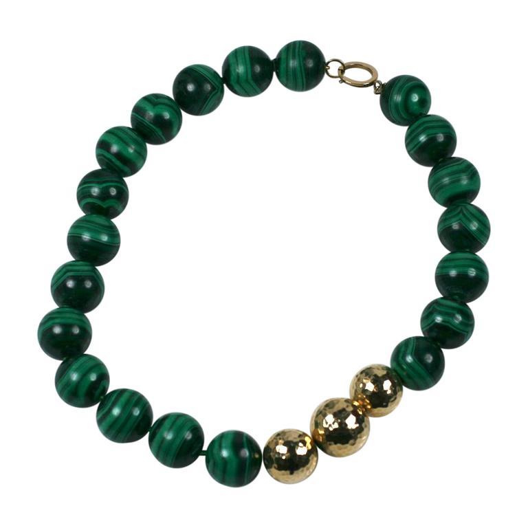 Oversized Malachite Beads For Sale
