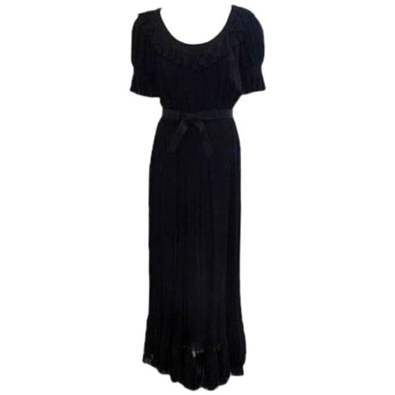 Christian Dior Haute Couture Pleated Chiffon Gown, Betsy Bloomingdale 1974 For Sale