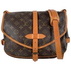 Louis Vuitton Vintage Monogram Canvas Saumur 30 Crossbody Bag