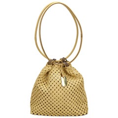 Gucci Woven Cotton Shoulder Bag