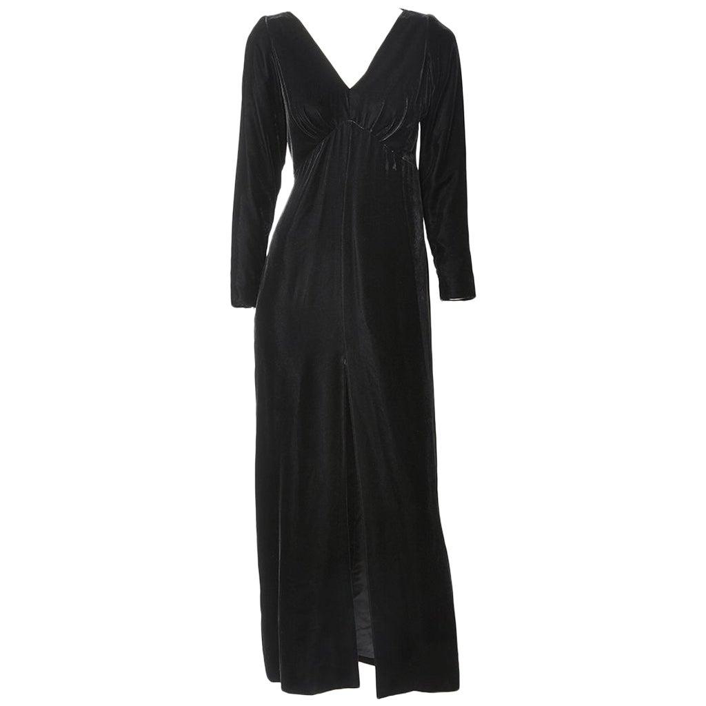 Yves Saint Laurent RIve Gauche Velvet Evening Dress