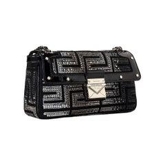 GIANNI VERSACE COUTURE Crystal Embellished Shoulder Bag