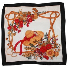 Gucci Black, White, Pink, and Gold Scarf