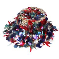 Festive Italian Spangled Sun Hat