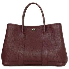 Hermes Burgundy Negonda Leather 30cm Garden Party TPM Bag