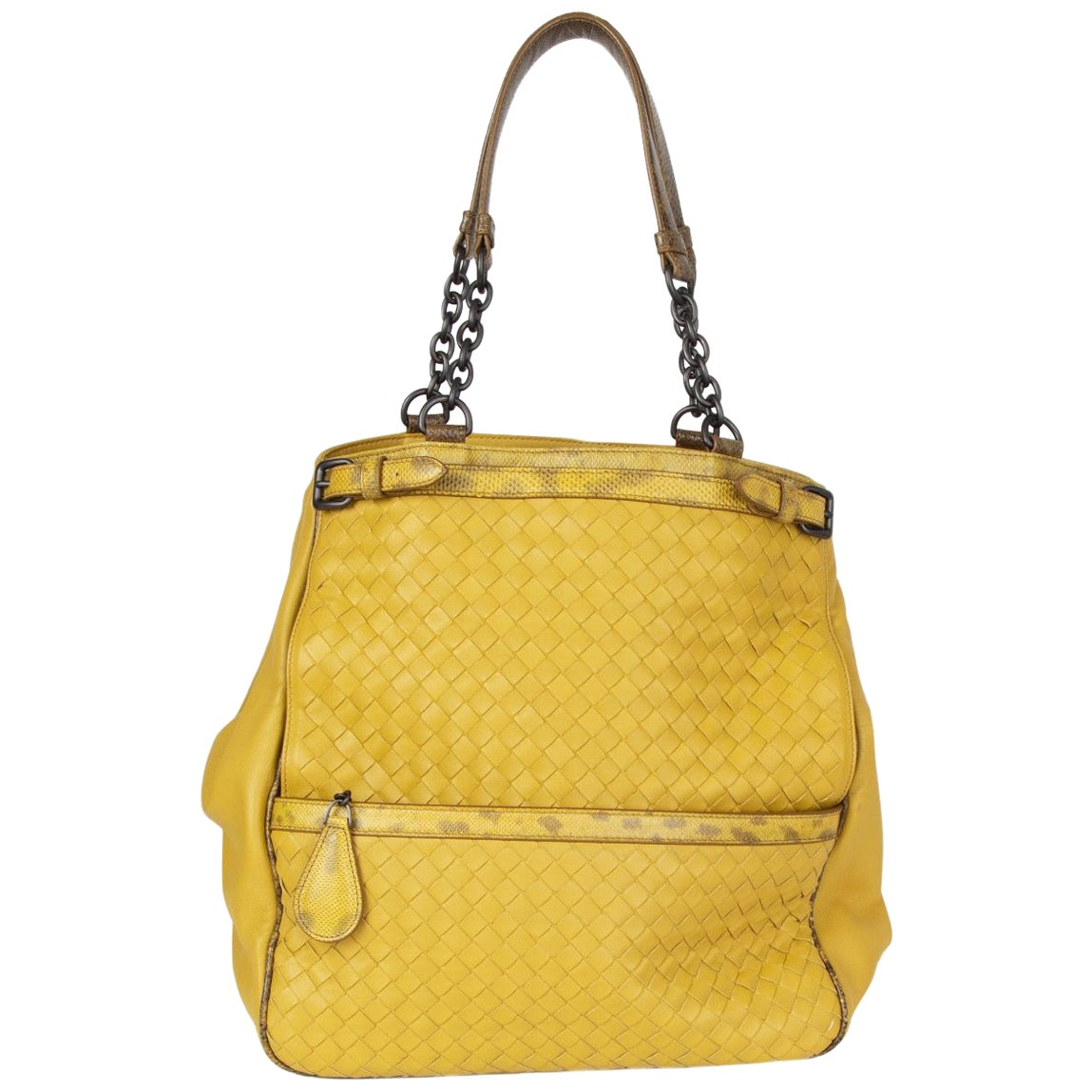 BOTTEGA VENETA yellow LUTEOUS NAPPA & KARUNG TOTE Shoulder Bag